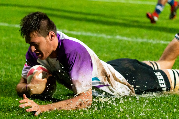A try for NWU Pukke by Reuben du Ploy